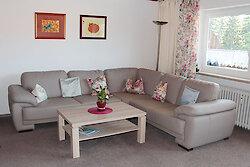 Wohnzimmer der Ferienwohnung Sonneneck